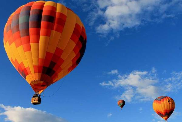 """Picture for """"We're currently following the CDC's guidelines, which includes masks be mandatory indoors, as well as outdoors in crowded outdoor settings,"""" Sam Parks, Director of Operations at Albuquerque International Balloon Fiesta, said."""