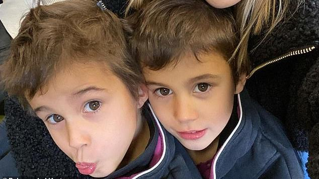 Picture for 'Mummy loves wine and watching grown-up movies': Rebecca Judd is MORTIFIED by her twin sons' answers to a Mother's Day questionnaire