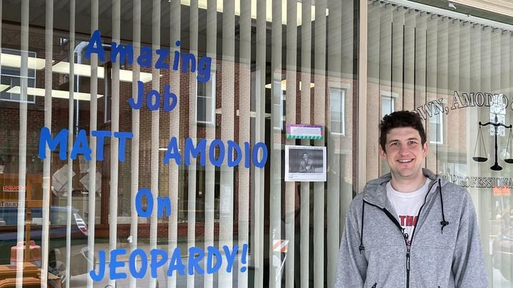 Cover for Matt Amodio earns hometown fans as record-breaking Jeopardy winner: Medina County Local Legend