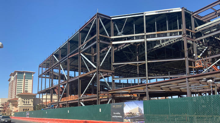 Cover for Thunder Valley's new entertainment venue underway