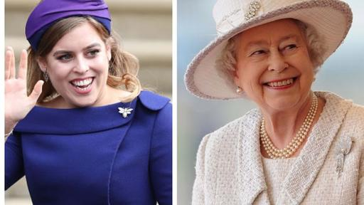 Princess Beatrice Wears Queen Elizabeth S Dress And Tiara On Her