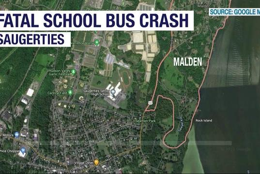 Picture for Dump truck driver dies in crash with school bus
