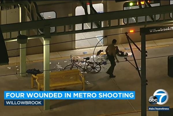 Picture for 4 wounded in shooting at Willowbrook Metro station, authorities say