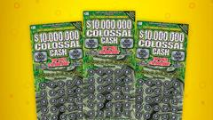 Cover for Burlington man plans to use $10 million lottery prize to help family