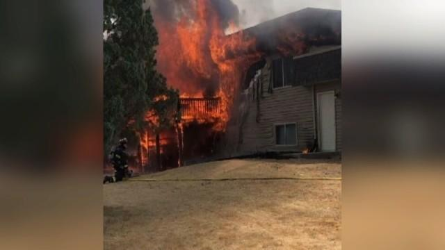 Picture for Update: 1 injured in Billings Heights apartment fire