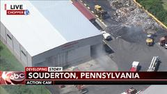 Cover for Fire erupts at J.P. Mascaro waste disposal business in Montgomery County