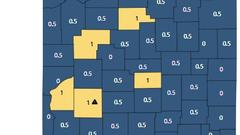 Cover for Marshall, Starke, Pulaski Counties Remain in Blue on Indiana's COVID-19 Map