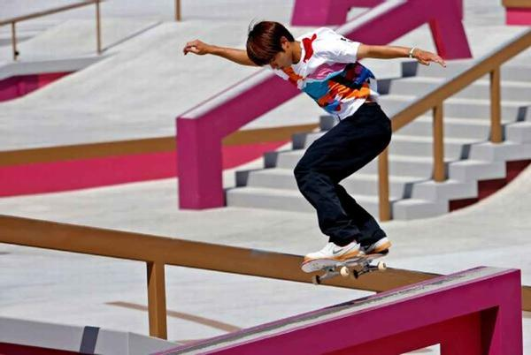Picture for Japan's Yuto Horigome wins Olympics' first-ever skateboarding gold medal