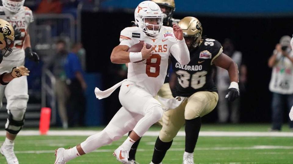 Picture for Social media reactions to Texas' Alamo Bowl victory, Casey Thompson