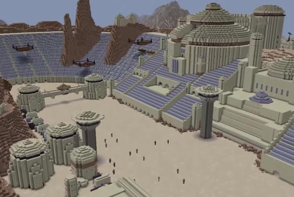 Picture for Minecraft: a brave builder wants to recreate the entire Star Wars universe
