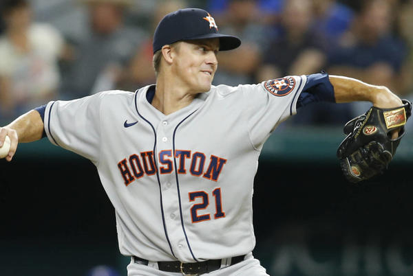 Picture for Astros RHP Zack Greinke placed on 10-day IL with neck soreness