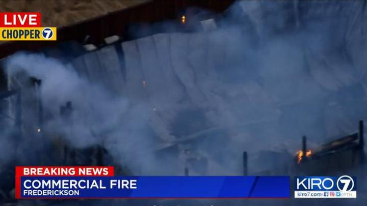 Cover for Fire destroys commercial building in Frederickson