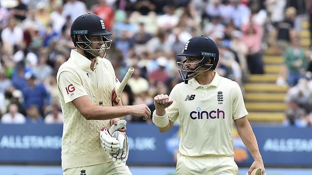 Picture for TOP SPIN ON THE TEST: Rory Burns and Dom Sibley dig in while James Bracey has a Test awakening as he becomes the ninth England player to begin his career with two ducks