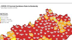 Cover for 2,583 new cases of COVID-19 reported in Kentucky