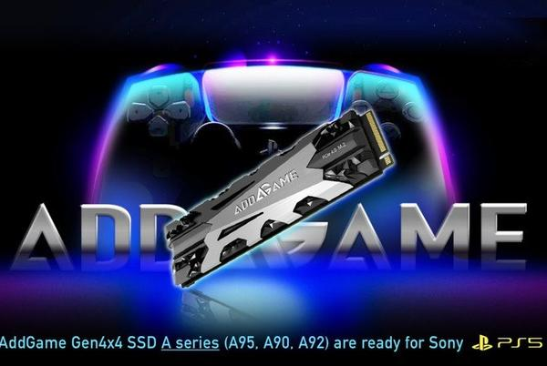 Picture for Addlink PlayStation 5 SSD specifically optimized M.2 PCIe 4.0 PS5 SSD unveiled