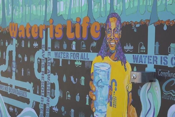 Picture for New mural in downtown Little Rock doubles as a water bottle filler