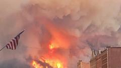 Cover for Big Fire in Montana nearing Red Lodge