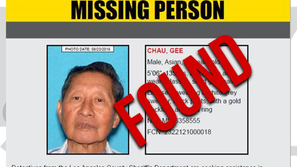 Picture for 79-year-old man reported missing in Lakewood found
