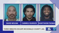 Cover for Three inmates escape from southwest Missouri jail