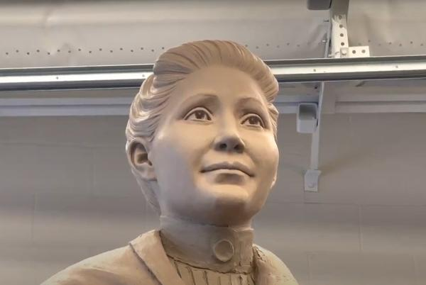 Picture for Sculpture Revealed of Dr. Susan La Flesche Picotte, the first Native American doctor.