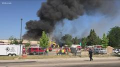 Cover for Boise elementary school being demolished catches fire