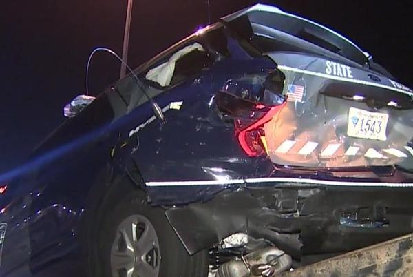 Picture for Trooper hospitalized following crash involving state police cruiser in Worcester