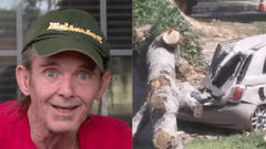 Cover for Hillbilly Neighbor Gives Hilarious Interview After City Drops Tree On College Student's Car