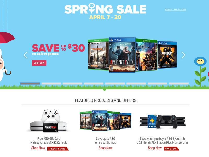 Gamestop Spring Sale Now Live W Huge Deals On Games Console Trade Ins Toys And More News Break