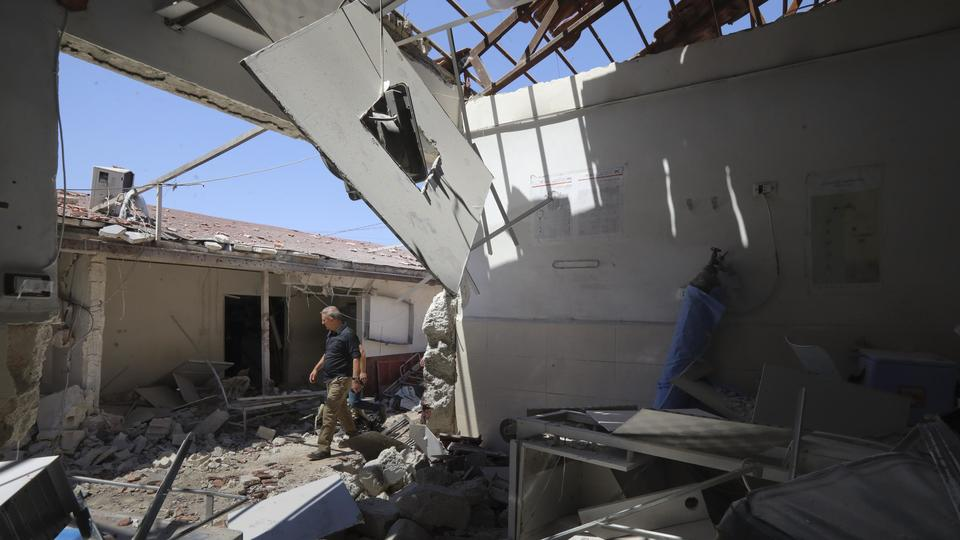 Picture for Major wreckage at hospital hit by artillery in north Syria