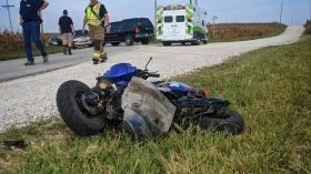 Cover for Car vs Moped Crash sends one to hospital