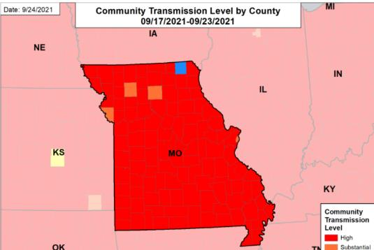Picture for TUESDAY UPDATES: Missouri remains in the red zone; state profile report shows new cases down 18%