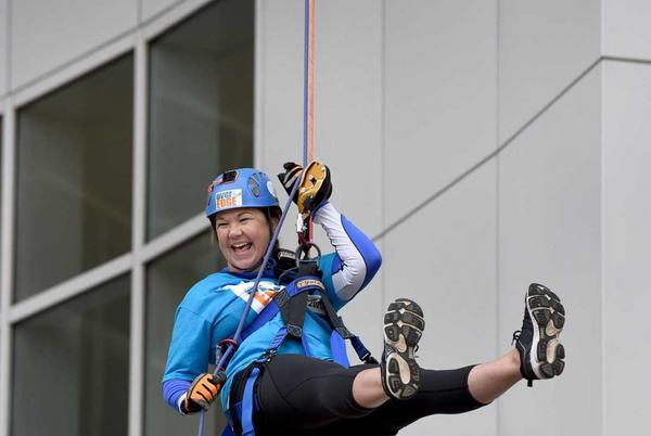 Picture for Rappellers go over the edge to raise money in Bridgeport