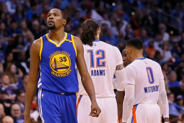 """Picture for Draymond Green Recalls Kevin Durant's First Game Back In OKC With Warriors: """"Man, We Were Walking In The Hotel At 4 AM With Police Security. That's Crazy. We Were On SportsCenter Live Walking Into The Hotel At 4 AM."""""""
