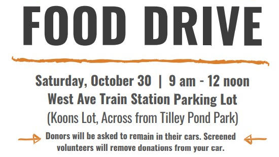 Cover for Darien Food Drive on Sat. Oct. 30th