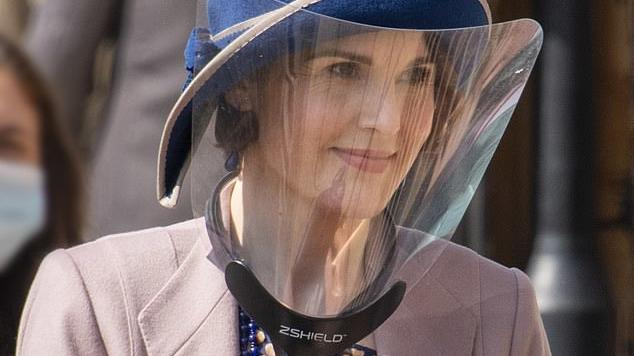 Picture for Michelle Dockery is seen for the first time on the set of Downton Abbey movie sequel as she returns as Lady Mary