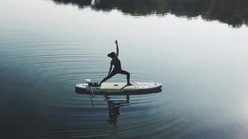 Picture for SweetWater Yoga Offers Paddle Board Yoga Classes in Clarklake, Michigan