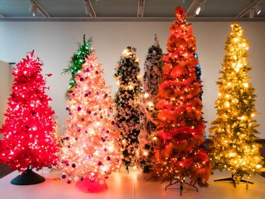 Christmas Trees 2021 Watauga Democrat Christmas Trees By Artist Affectionately Known As Tia Chuck On Display At Ruby City News Break