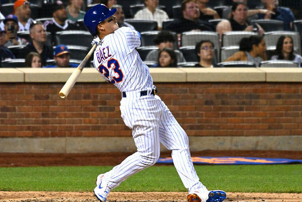 Picture for Javier Baez homers in debut as Mets rally past Reds in 10