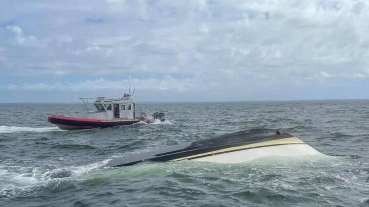 Cover for Boat capsizes in Mattapoisett Harbor