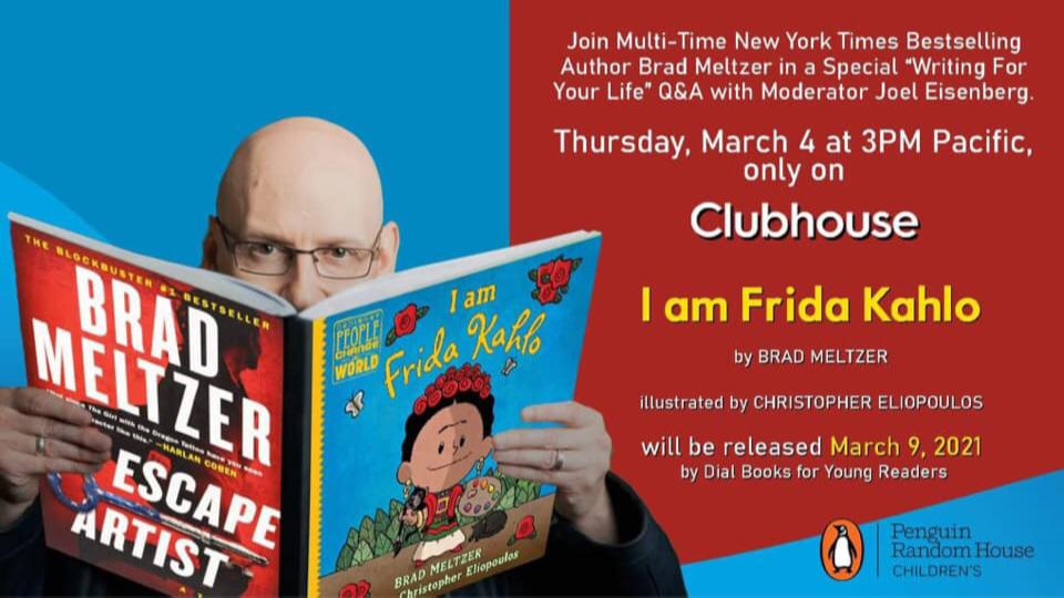 Picture for New York Times Bestselling Author and Eisner-Winning Comics Writer Brad Meltzer Makes Clubhouse Debut
