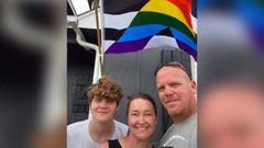 Cover for Oklahoma father goes viral on TikTok for showing support for son with Pride flag