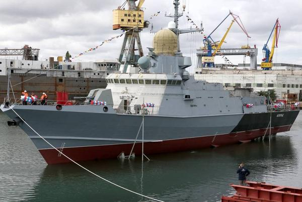 Picture for Russian Kerch shipyard floats out Project 22800 corvette Askold
