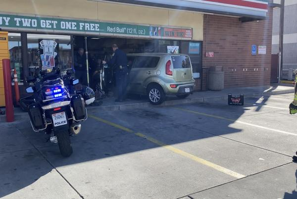 Picture for 'Big Gulp' at 7/11 as woman crashes into storefront