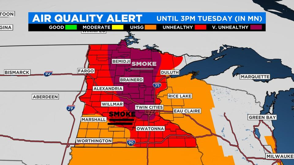 Picture for Minnesota Weather: Air Quality Alert Extended Due To 'Unprecedented' Conditions
