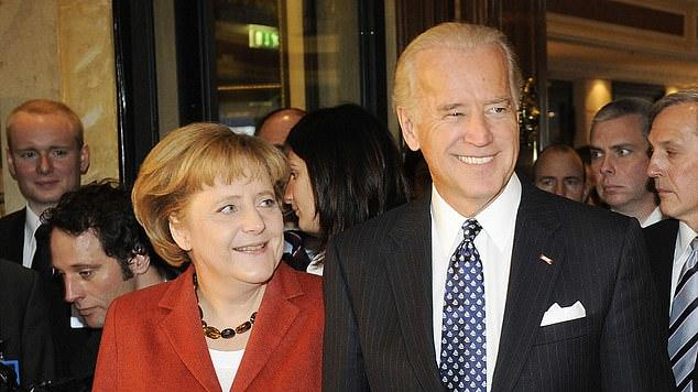 Picture for Biden will host German Chancellor Angela Merkel at the White House on July 15 after waiving sanctions on the Kremlin-backed Nord Stream 2 pipeline the GOP says is a 'gift' to Russia