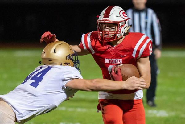 Picture for Guilderland football starts slow and finishes fast to beat CBA 17-7