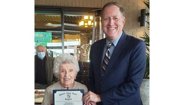 Cover for Perry Hall woman celebrates 100th birthday