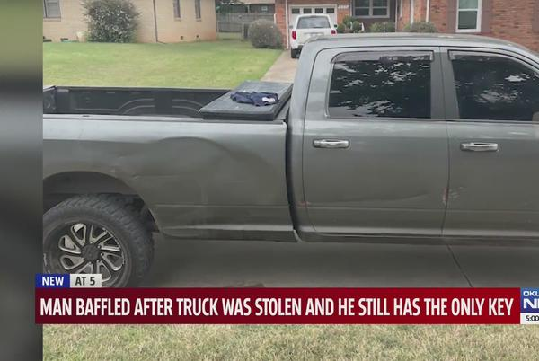 Picture for 'It's just some really bad people out there,' Oklahoma man claims crooks stole his truck despite it being keyless