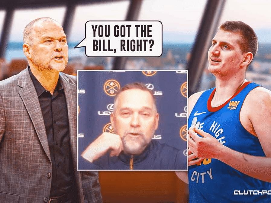 nuggets-nikola-jokic-hilariously-left-with-bill-after-mike-malones-ejection