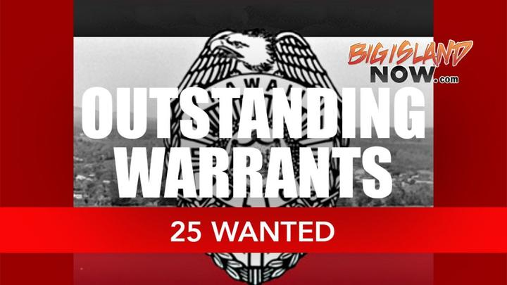 Cover for HPD Issues Names of 25 Wanted on Big Island
